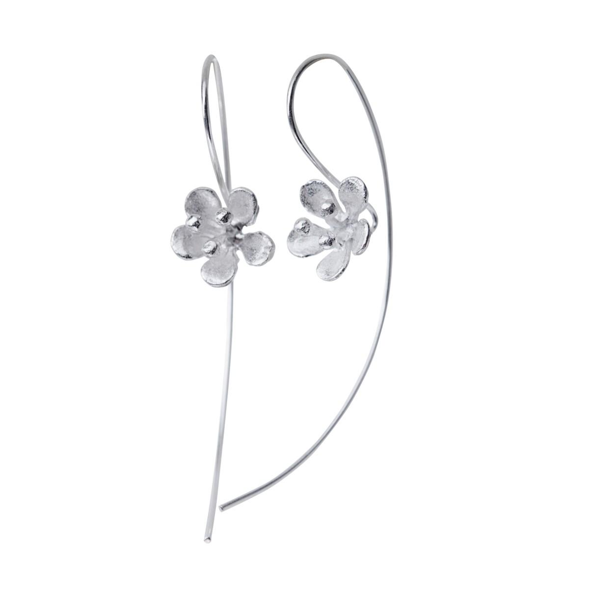 Boucles fleurs suspendues